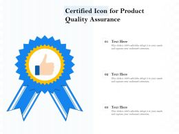 Certified Icon For Product Quality Assurance