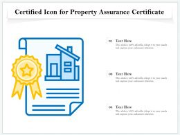 Certified Icon For Property Assurance Certificate