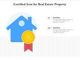 Certified Icon For Real Estate Property