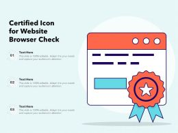 Certified Icon For Website Browser Check