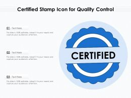 Certified Stamp Icon For Quality Control