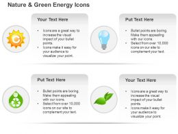 Cf Ecology Gear Bulb Globe And Green Leaf And Recycle Symbols Ppt Icons Graphics