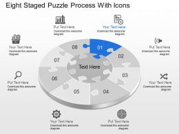 Cf Eight Staged Puzzle Process With Icons Powerpoint Template