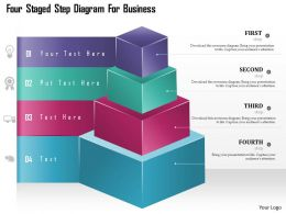 Cf Four Staged Step Diagram For Business Powerpoint Template