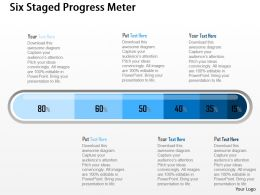 Cf Six Staged Progress Meter Powerpoint Template