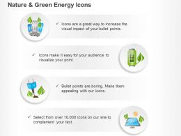 Cfl Battery Green Energy Solar System Ppt Icons Graphics