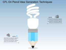 Cfl On Pencil Idea Generation Techniques Flat Powerpoint Design