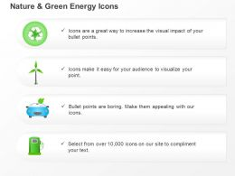 Cg Environmental And Green Energy Icons Recycle And Windmill Symbols Ppt Icons Graphics