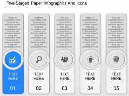 cg Five Staged Paper Infographics And Icons Powerpoint Template