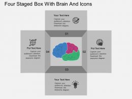 Cg Four Staged Box With Brain And Icons Flat Powerpoint Design