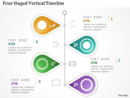 Cg Four Staged Vertical Timeline Powerpoint Template
