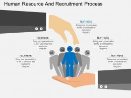 cg Human Resource And Recruitment Process Flat Powerpoint Design