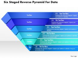 Cg Six Staged Reverse Pyramid For Data Powerpoint Template