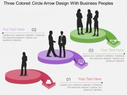 cg Three Colored Circle Arrow Design With Business Peoples Flat Powerpoint Design