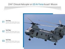 CH47 Chinook Helicopter On US Air Force Assault Mission