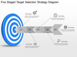 ch Five Staged Target Selection Strategy Diagram Powerpoint Template