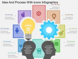 ch Idea And Process With Icons Infographics Flat Powerpoint Design