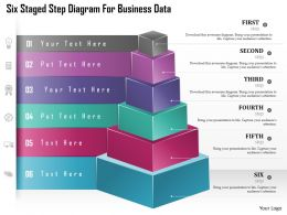 Ch Six Staged Step Diagram For Business Data Powerpoint Template