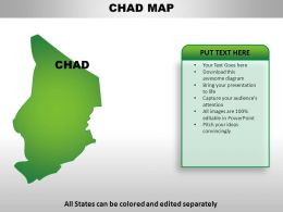 Chad Country Powerpoint Maps