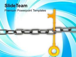 Chain And Key Teamwork Concept Powerpoint Templates Ppt Themes And Graphics