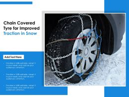 Chain Covered Tyre For Improved Traction In Snow