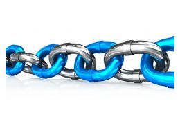 Chain Graphics For Network Growth Business Concept Stock Photo