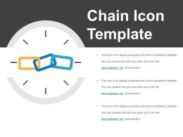 Chain Icon Template Sample Of Ppt