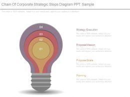 Chain Of Corporate Strategic Steps Diagram Ppt Sample
