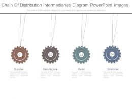 Chain Of Distribution Intermediaries Diagram Powerpoint Images