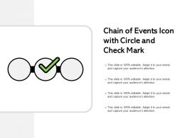 Chain Of Events Icon With Circle And Check Mark