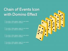 Chain Of Events Icon With Domino Effect