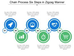 Chain Process Six Steps In Zigzag Manner