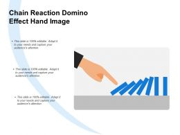 Chain Reaction Domino Effect Hand Image