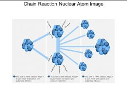 Chain Reaction Nuclear Atom Image