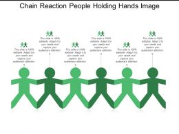 Chain Reaction People Holding Hands Image