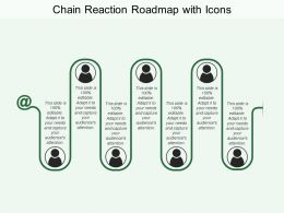 Chain Reaction Roadmap With Icons