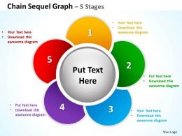 chain sequel graph 5 stages powerpoint diagrams presentation slides graphics 0912