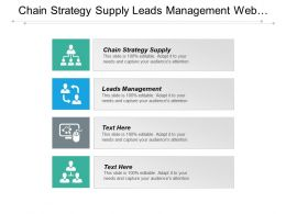 Chain Strategy Supply Leads Management Web Content Management Cpb