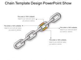 Chain Template Design Powerpoint Show