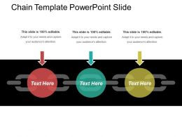Chain Template Powerpoint Slide