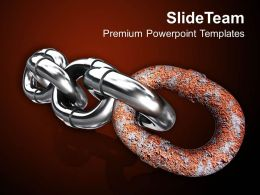 Chain With Stronger Bonds PowerPoint Templates PPT Backgrounds For Slides 1113