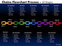 Chains Flowchart Process Diagram 10 Stages Style 1 2
