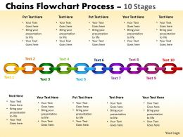Chains Flowchart Process Diagram 10 Stages Style 1