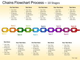 Chains Flowchart Process Diagram 10 Stages Style 1 ppt Templates 0412