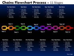Chains Flowchart Process Diagram 11 Stages Style 1 2