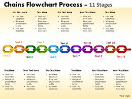 Chains Flowchart Process Diagram 11 Stages Style 1