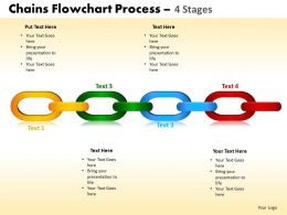 Chains Flowchart Process Diagram 4 Stages Style 1 3
