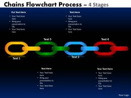 Chains Flowchart Process Diagram 4 Stages Style 1