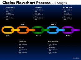 Chains Flowchart Process Diagram 5 Stages Style 1 2