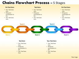 Chains Flowchart Process Diagram 5 Stages Style 1